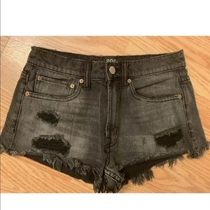 Urban Outfitters mid rise Distressed Denim Shorts